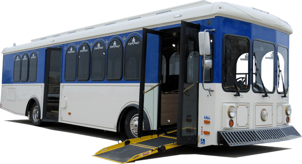 specialty vehicles new & used trolleys, trams, & mover vehicle  this trolley is truly accessible to all passengers featuring a main entrance with no step and an entry ramp learn more